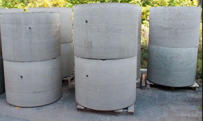 размеры бетонных колец для колодцев