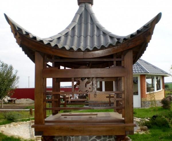 Вариант колодца в японском стиле