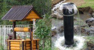 Скважины и колодца отличаются между собой по структуре