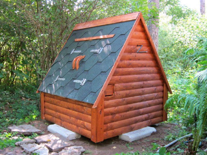 Экологически чистый домик для колодца