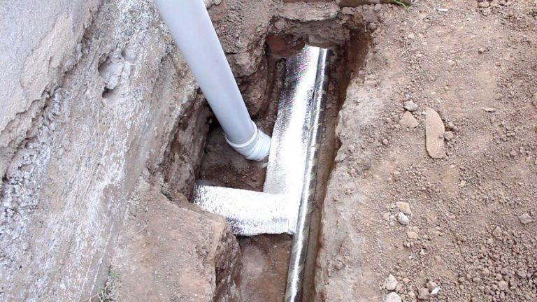 утепление существующего водопровода под дорогой