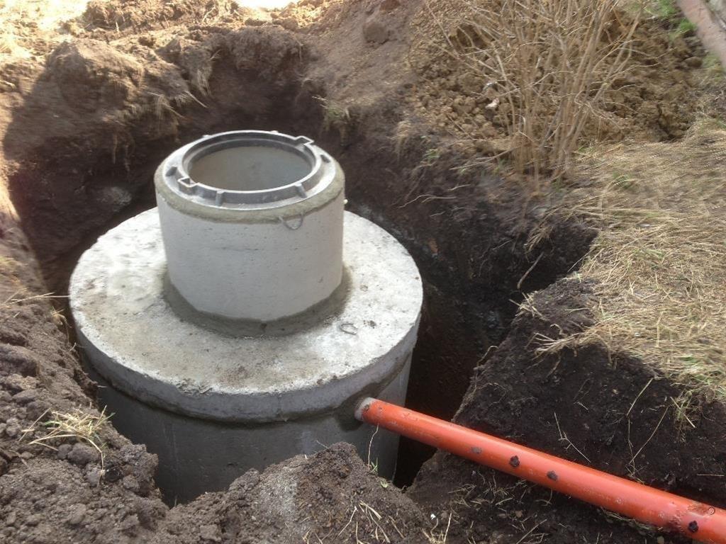 Кессон из бетонных колец