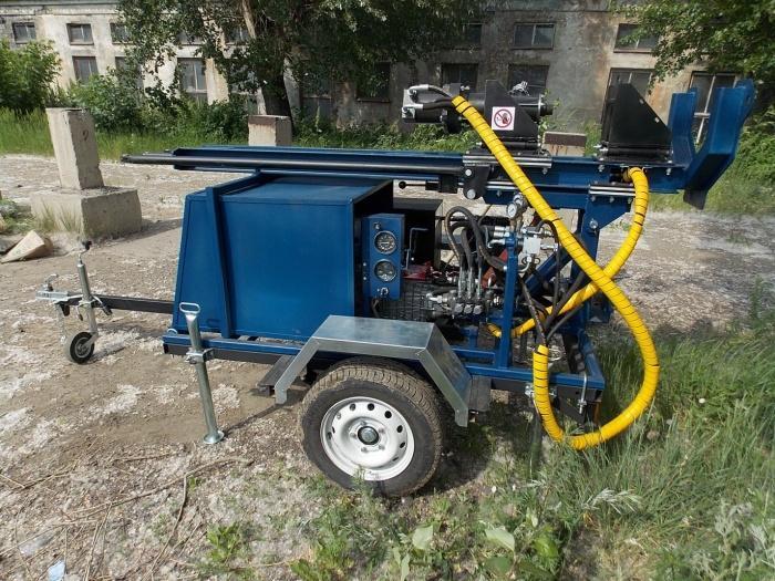 Вид буровой установки для скважины на воду