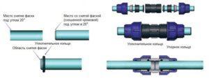 Монтаж соединений ПНД труб