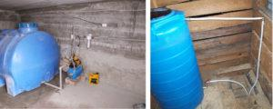 Два типа ёмкость для водоснабжения