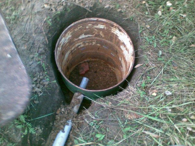 Слив воды из бани с помощью клапана