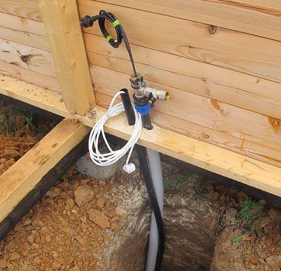 водопровод в баню зимой чтобы не замерз