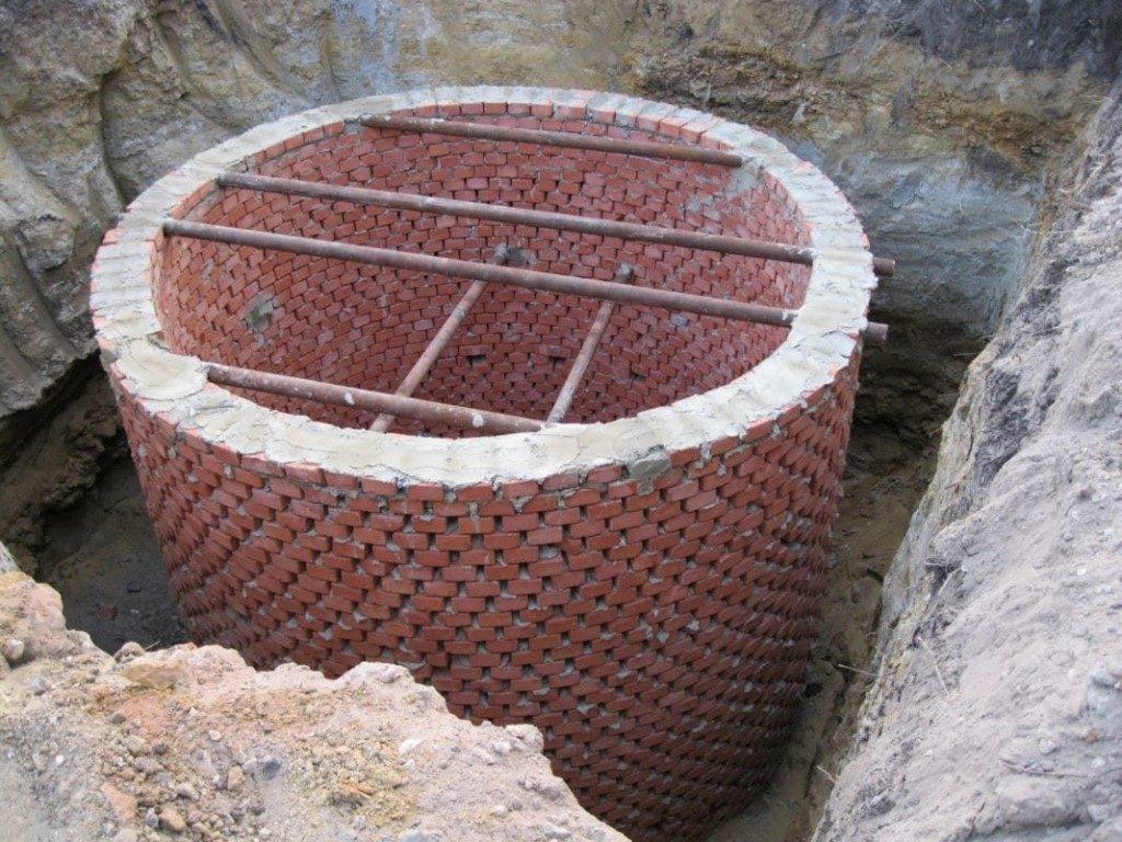 Выгребная яма наполняется водой