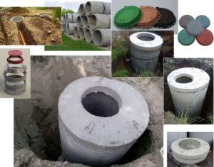 Сборка конструкции из бетонных колец