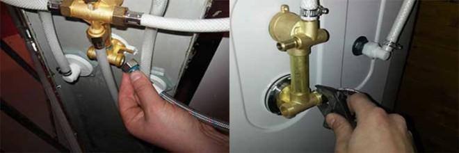 Присоединение труб водопровода
