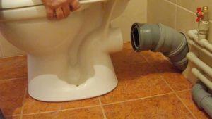 Прямое подсоединение унитаза к канализации