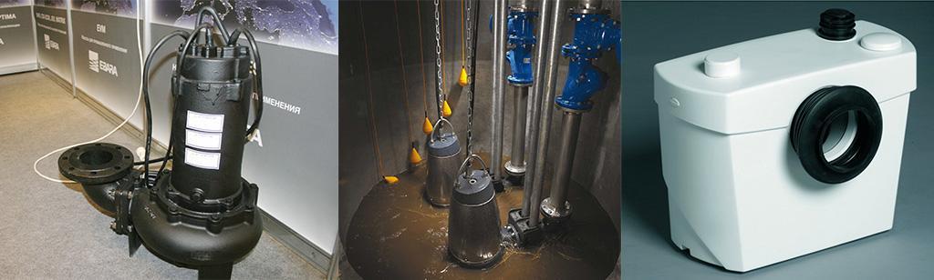 Типы насосов для канализации