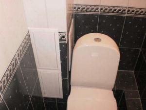 Маскировка стояка в туалете