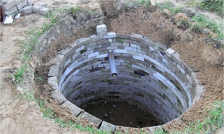 Пример выгребной ямы из кирпича