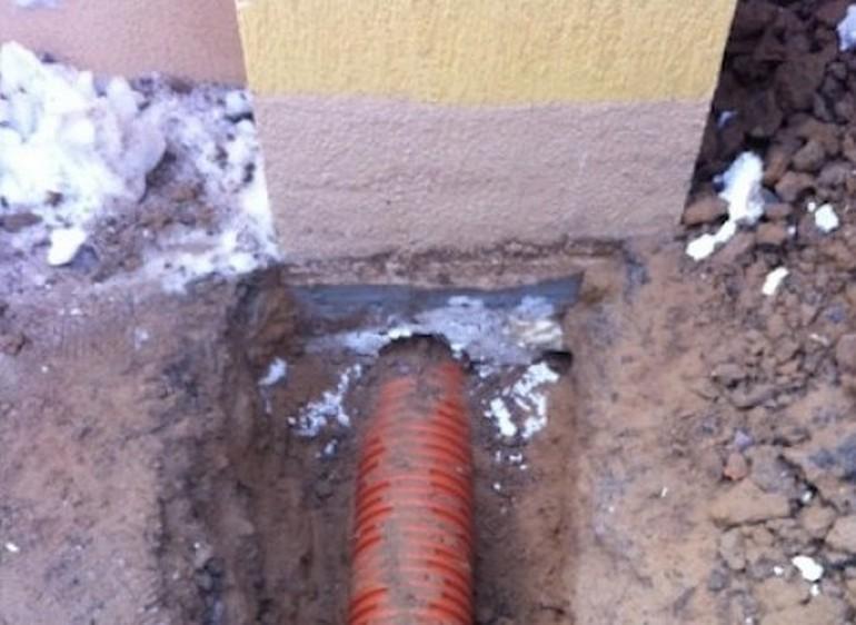 Подмерзание канализации