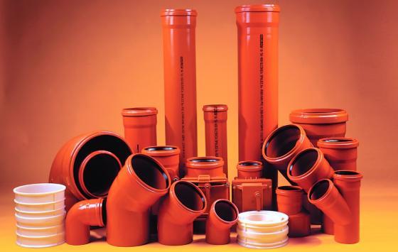 Трубы для внутренней канализации, изготовленные из ПВХ