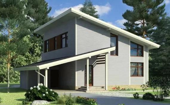 Быстровозводимые каркасные двухэтажные дома